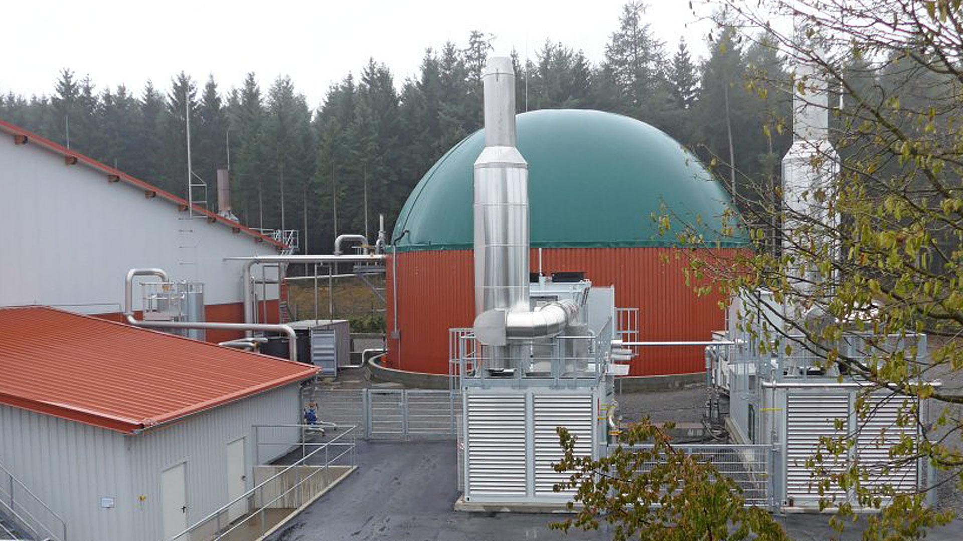 Biogasanlage Deutschland, biogas plant SSAD Germany