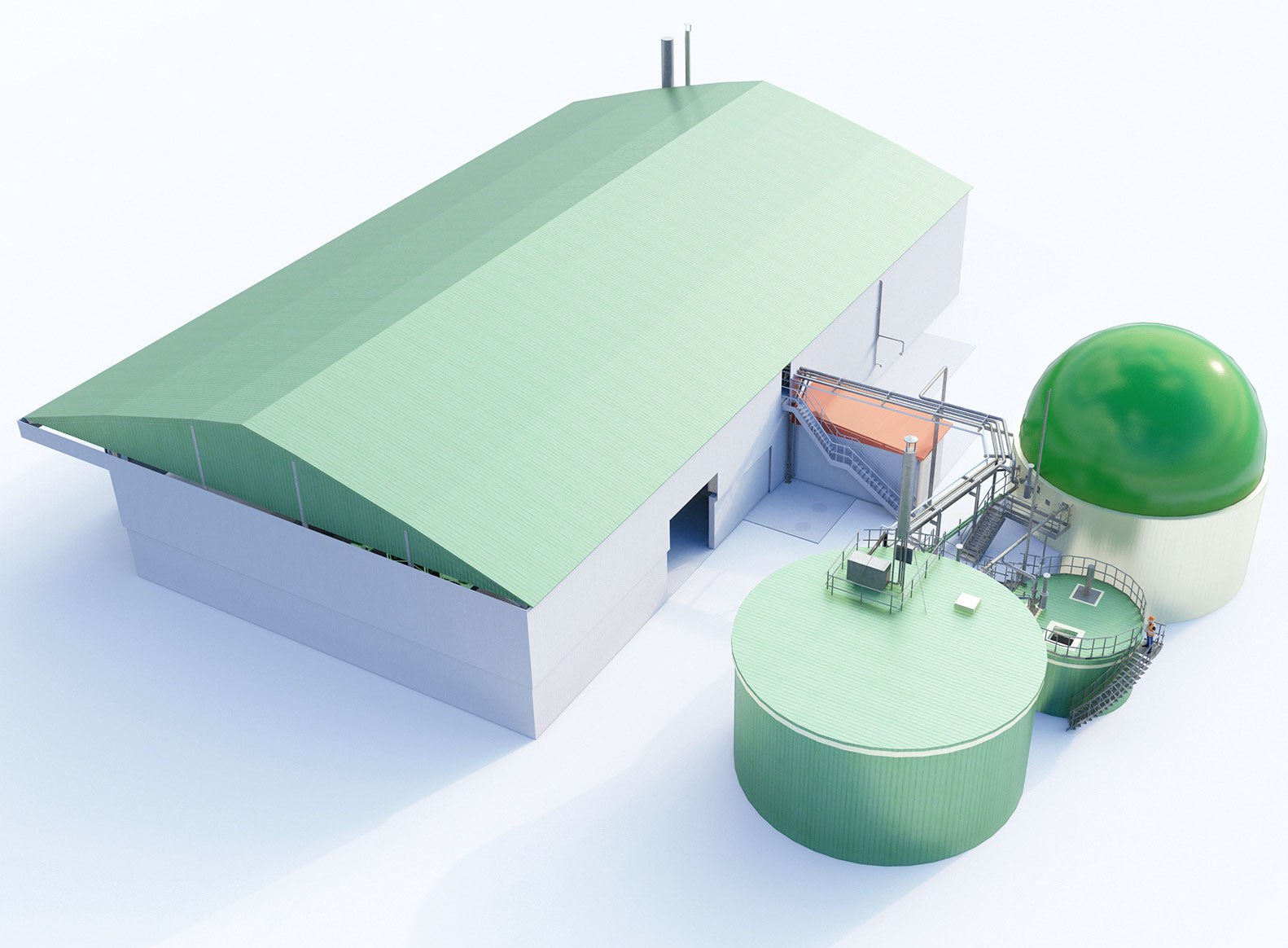 Anaerobic Digestion Biogas Plants for solid organic waste by RENERGON