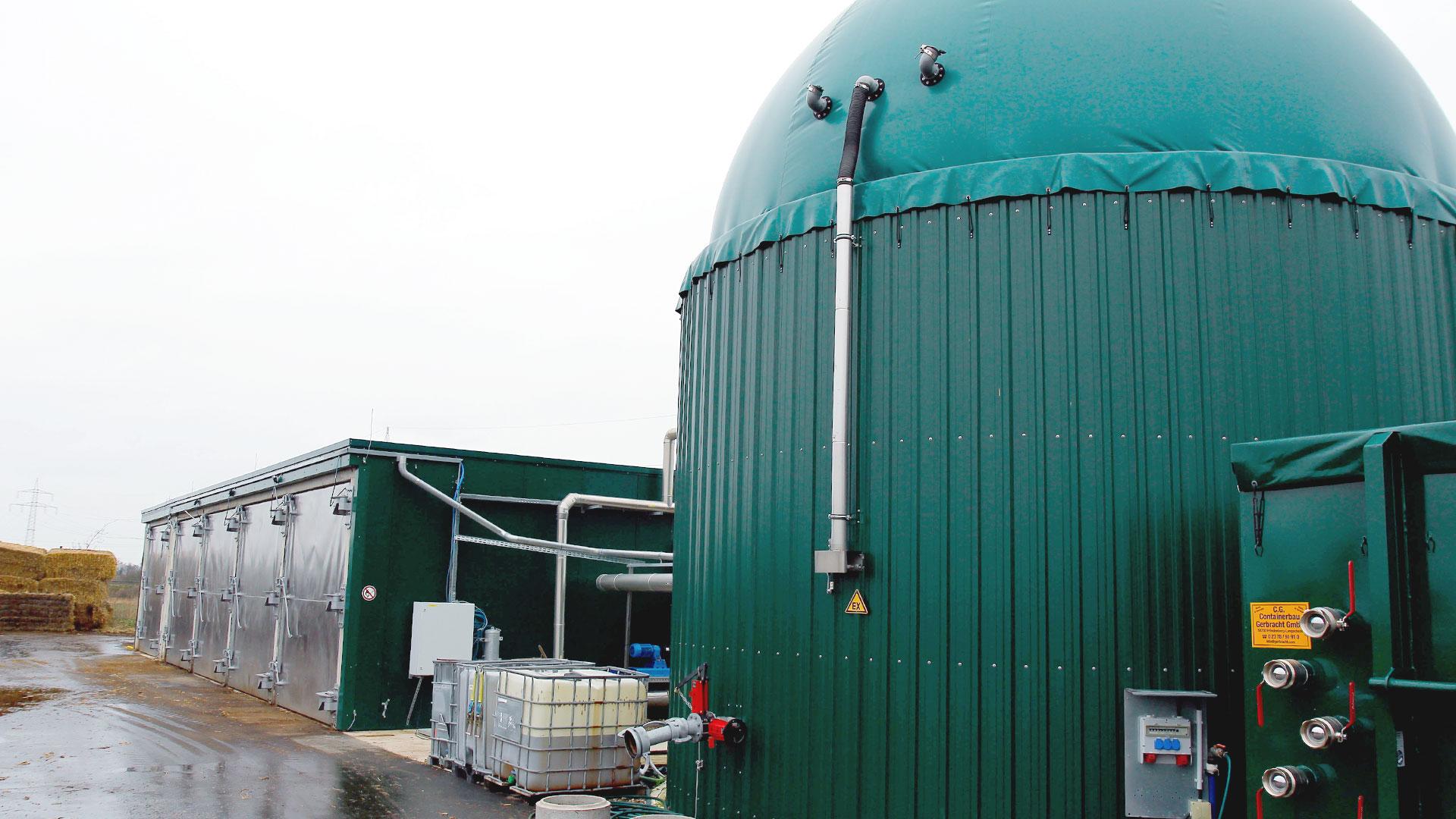Biogaskleinanlage Pferdemist