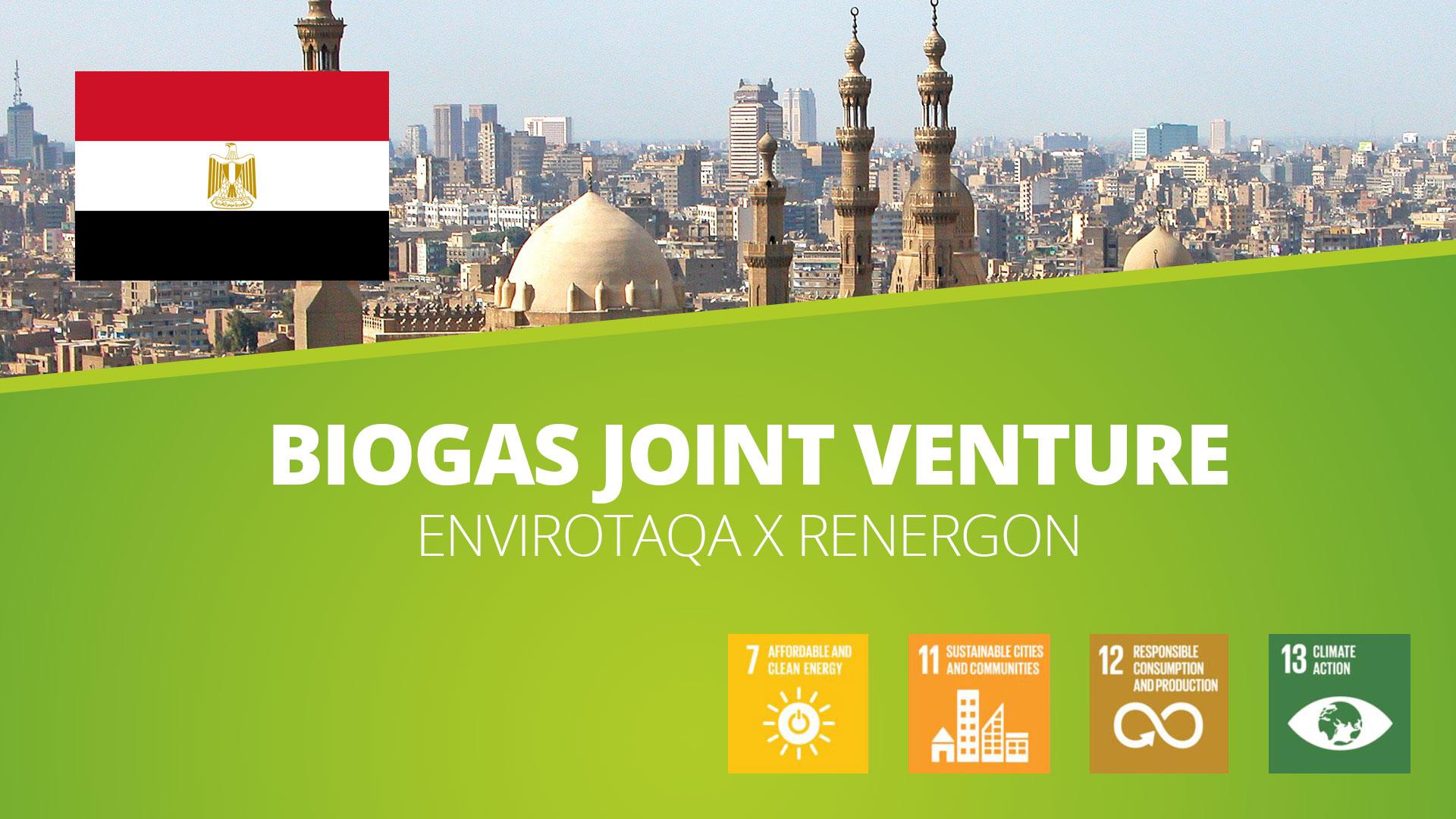 , Biogas Joint Venture in Ägypten